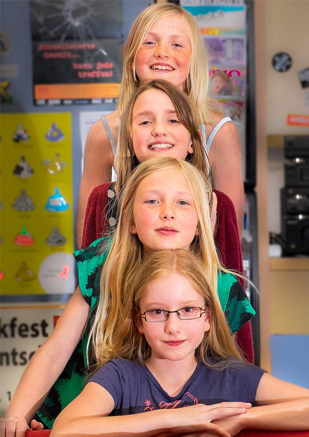 Pressefoto Vier Mädchen